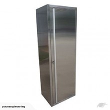 Stainless Steel Lockable Storage Cabinet with 4 Adjustable Shelves
